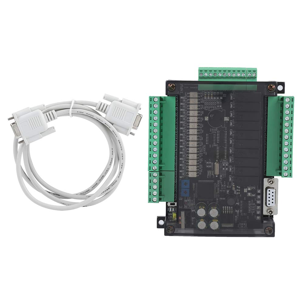 PLC Programmable Logical Controllers, Akozon PLC Relay FX3U-24MR Industrial Control Board PLC Programmable Logic Controller Relay Output