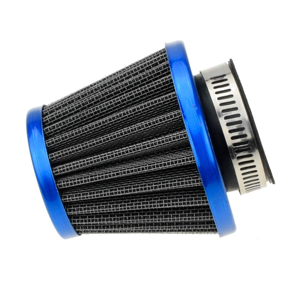 HIAORS 38mm 1 1//2 Blue Air Filter With Two 5mm Gas Fuel Filter for for Lifan 125cc Apollo 125 110cc Dirt Pit Bike GY6 49cc 50cc taotao ATM50 Moped Scooter 110cc 150cc 200cc Motorcycle ATV Quad