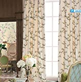 MICHELE HOME FASHION 100″ W x 102″ L (Set of 2 panels) Multi Custom Country Rustic Print Floral Grommet Top Lined Blackout Window Treatment Draperies & Curtains Panels Review