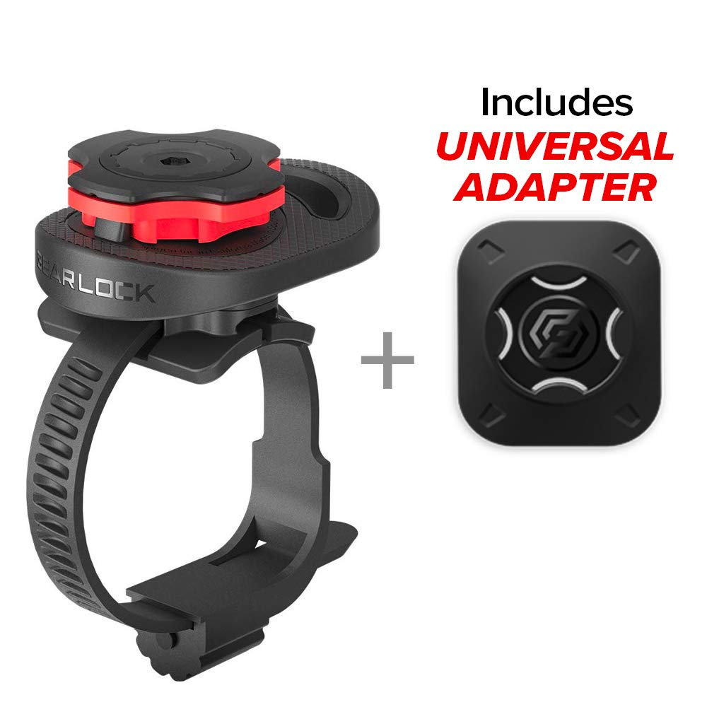 Gearlock Stem Bike Mount with Aerodynamic Design and Simple Secure Mount Solution with one-Handed use for The Best Cycling Performance and Optimum Viewing Angle Spigen