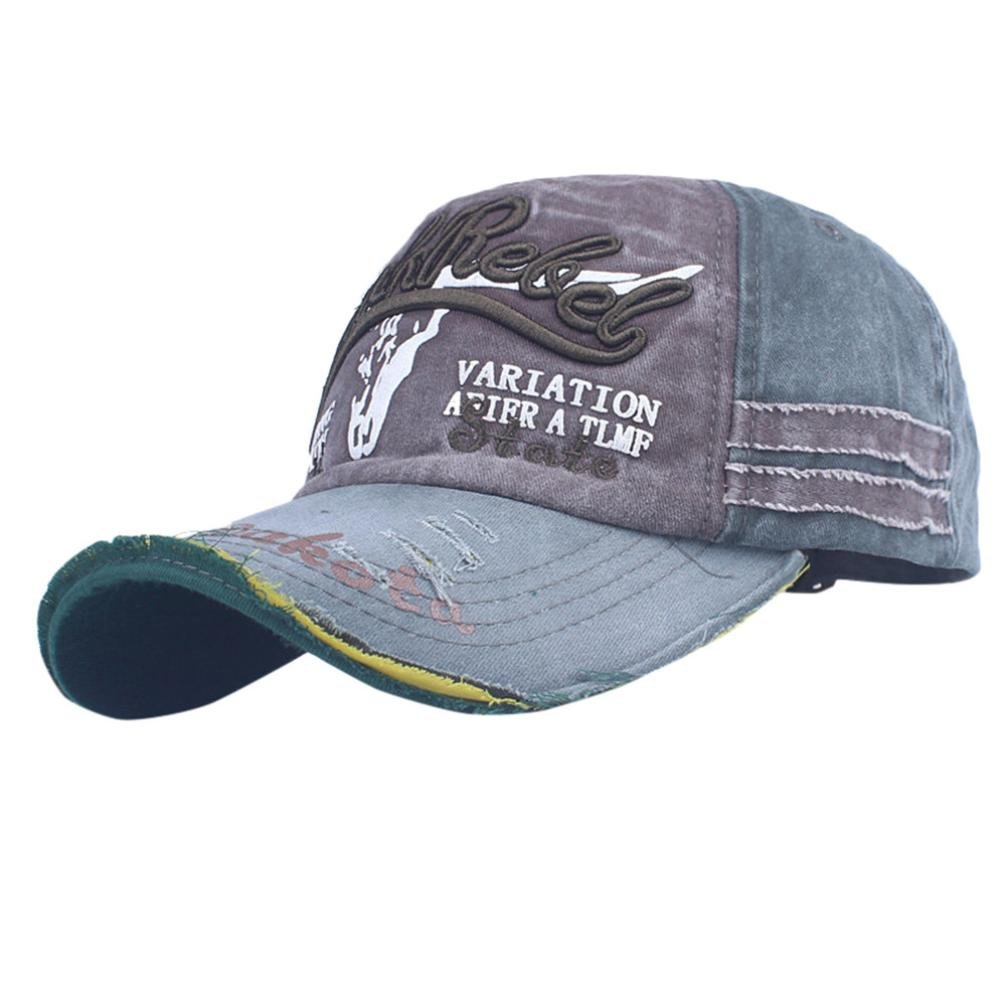 Vertily Hat Men Women Vintage Snapback Distressed Trucker Outdoor Sport Sun Cap FSSG-342