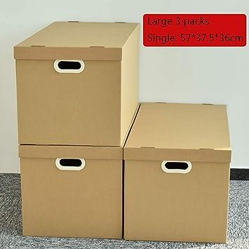 Dray 3 paquetes de cajas de mudanza clásicas con hebilla, cajas de mudanza de movimiento suave, BL4515-3, caja de almacenamiento de papel Kraft, adecuadas para almacenamiento, movimiento, acabado, emb: Amazon.es: Electrónica