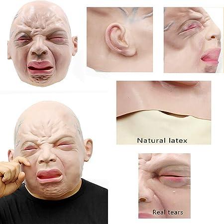 GK Hombre Realista máscara de látex Viejo Macho Disfraz Disfraces ...