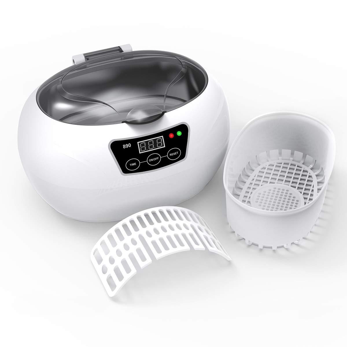 当社の 小型業務用超音波洗浄機 超音波クリーナー 洗浄かご付き Ultrasonic Cleaner Cleaner Sonic B01LQ0YVMU Wave Cleaning Sonic machine 600ml (グレー) グレー B01LQ0YVMU, HUGEST:423ade41 --- arianechie.dominiotemporario.com