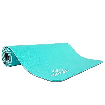 Meglio Esterilla de Yoga Eco en TPE - Antideslizante Yoga, Pilates, Fitness, Rutinas de Ejercicios y Meditación - 8mm de Grosor