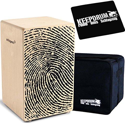 Schlagwerk CP 107 X-One Fingerprint + KEEPDRUM Gig Bag + SitzPad CP-01
