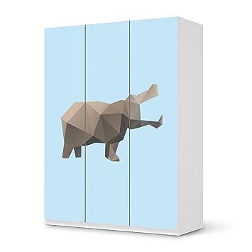 Origami Möbel klebefolie für ikea pax schrank 201 cm höhe 3 türen muster möbel