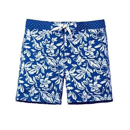 UV SKINZ UPF 50+ Girls Board Shorts (2T, Navy Blue ()