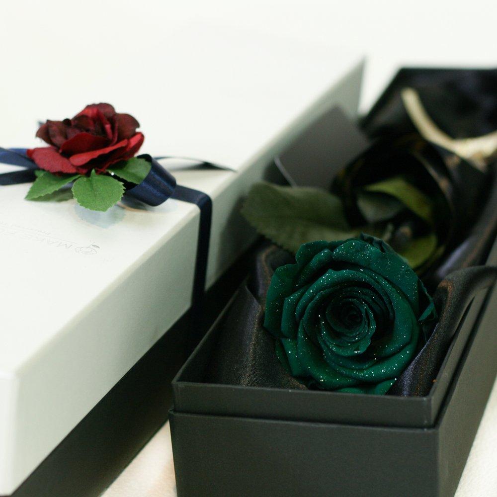 Makefuture D 一輪の薔薇 プリザーブドフラワー ダイヤモンドローズ (ブリティッシュグリーン) B01MRA3XEU ブリティッシュグリーン ブリティッシュグリーン