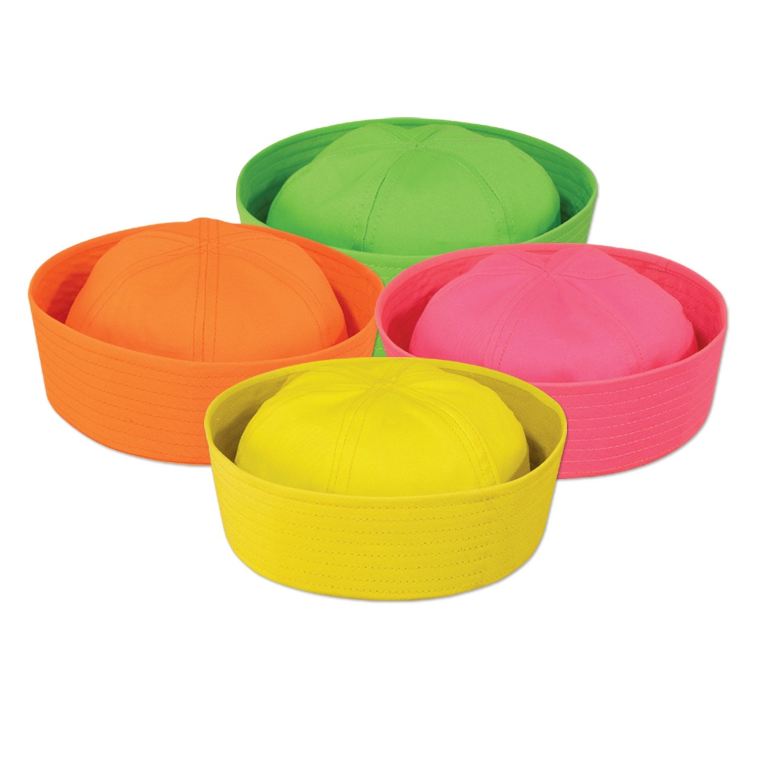 Beistle 60756 12-Piece Neon Sailor Hats