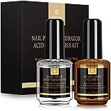 Saviland Nail Dehydrator and Primer, Long-lasting Nail Prep Dehydrate and Acid Free Bonding Primer Set Professional…