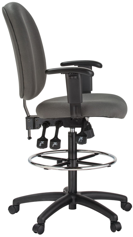 Amazon.com : Harwick Grey Fabric Ergonomic Adjustable Drafting Chair :  Office Products