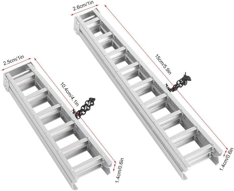 VGEBY1 Escalera Larga de Fuego, 2 Piezas de decoración RC Herramientas de Escalera Larga de Fuego Accesorios de Piezas para RC Modelo de Coche de Juguete: Amazon.es: Juguetes y juegos