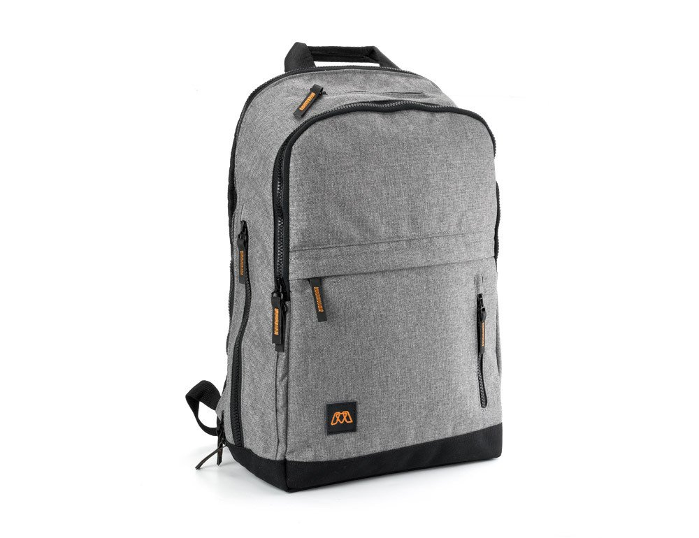 MOS Pack, The Backpack You Plug In to Charge Everything - NO MOS Reach+ Included, Granite