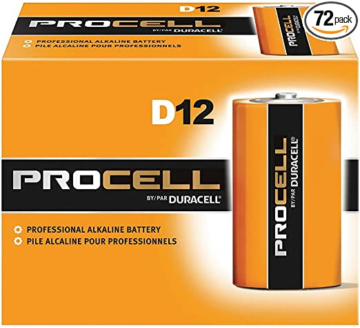Amazon Com Duracell Procell Pc1300 Size D Alkaline Battery Bulk Case Of 72 Health Personal Care