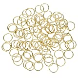 Hotop 100 Pack Hair Rings Braid Rings Hair Loop Clips Hair Accessories (Gold)