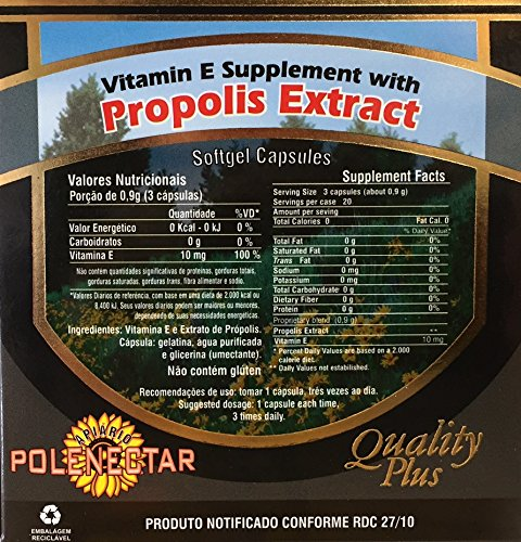Case With 16 Boxes Of Brazilian Green Bee Propolis Extract Apiario Polenectar Concentrated Softgel 300 mg Capsules By JLBrazil