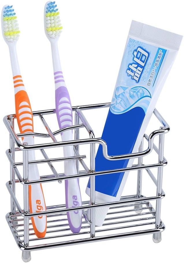 Fosa Toothbrush Holder Stainless Steel Toothbrush Toothpaste Holder Bathroom Storage Organizer Stand Rack