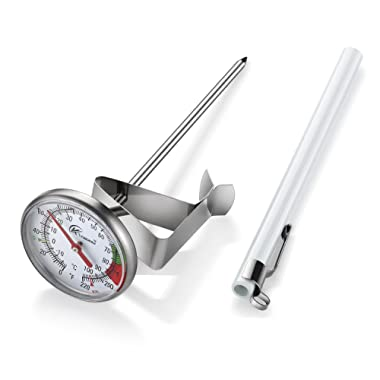 KT THERMO Instand Read 2-Inch Dial Thermometer,Best For The Coffee Drinks,Chocolate Milk Foam