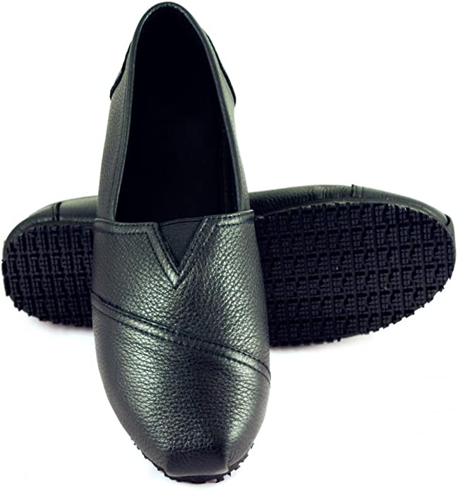 Details about  /Laforst 3112 Jess Womens Leather Slip Resistant Slip On Flats