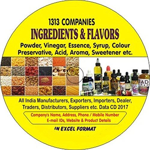 Amazon com: Ingredients & Flavors Companies Data