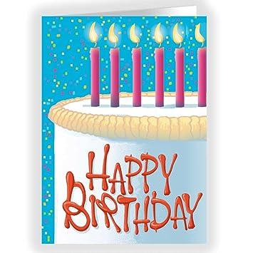 Amazon.com: Tarjetas Feliz cumpleaños – Tarta de cumpleaños ...