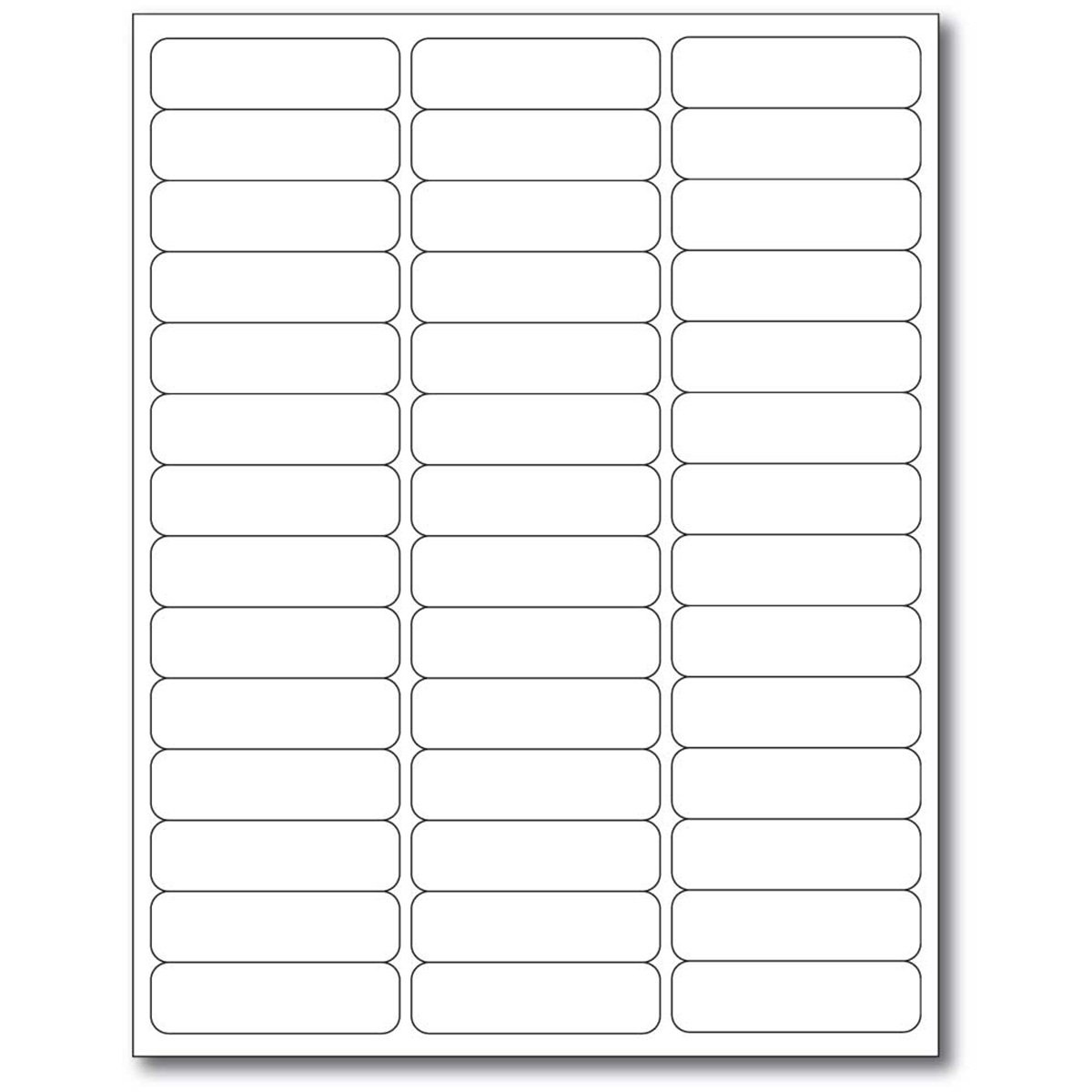 PDC Healthcare WBW-X30 Chart Labels Laser Portrait, Premium, 2 5/8'' x 3/4'', White (Pack of 1000)
