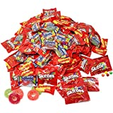 Assorted Bulk 5.49 Lb Starbursts Skittles Lifesavers Big Ring Gummies Skittles Candy Holiday Gifts Candies 180+ Pcs (88 Oz)