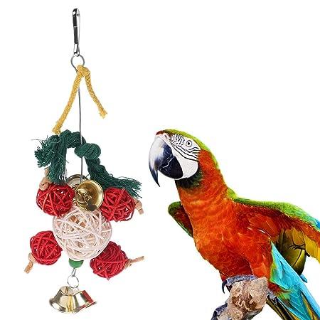 ECMQS - Juguete para pájaros, juguete para masticar, cuerda de ...