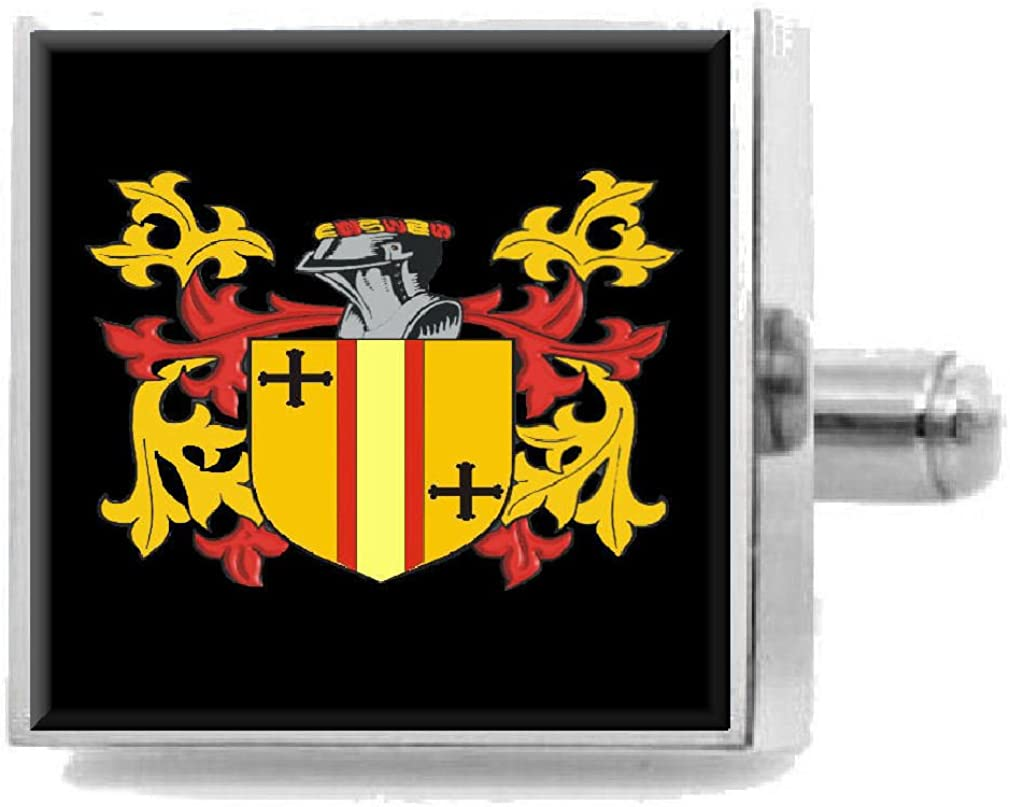 Select Gifts Gallagher Ireland Family Crest Surname Coat Of Arms Cufflinks Personalised Case