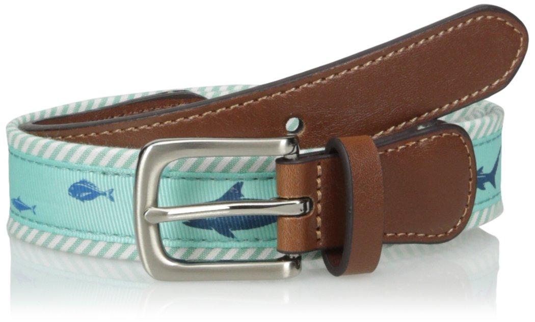 Wembley Men's Wembley Boys Animal Novelty Fabric Belt,Shark,M
