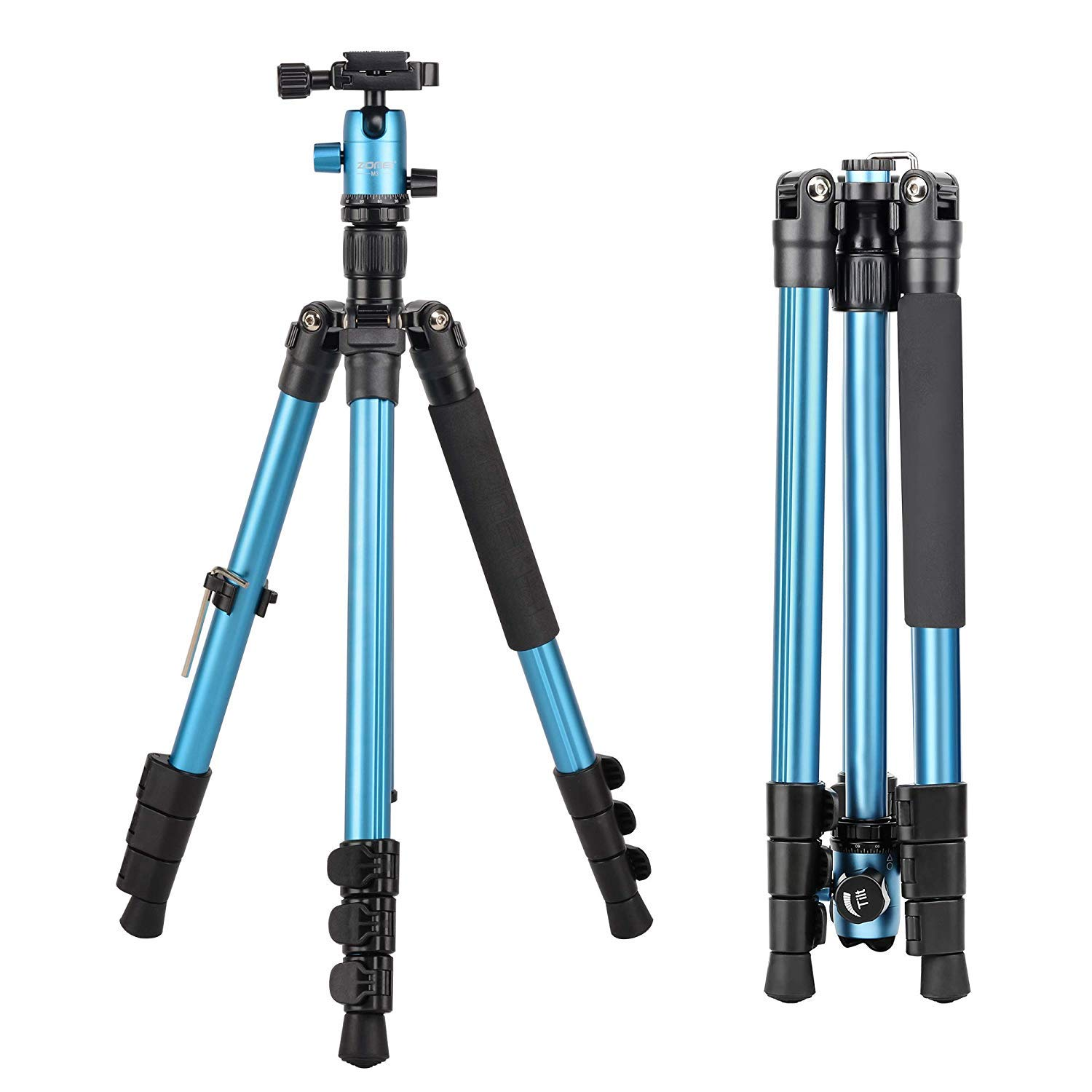 Zomei M3Compact Light Weight Travel Professional Tripod with 360 Degree Ball Head and Bag for DSLR Canon, Nikon, Sony Camera (Blue)