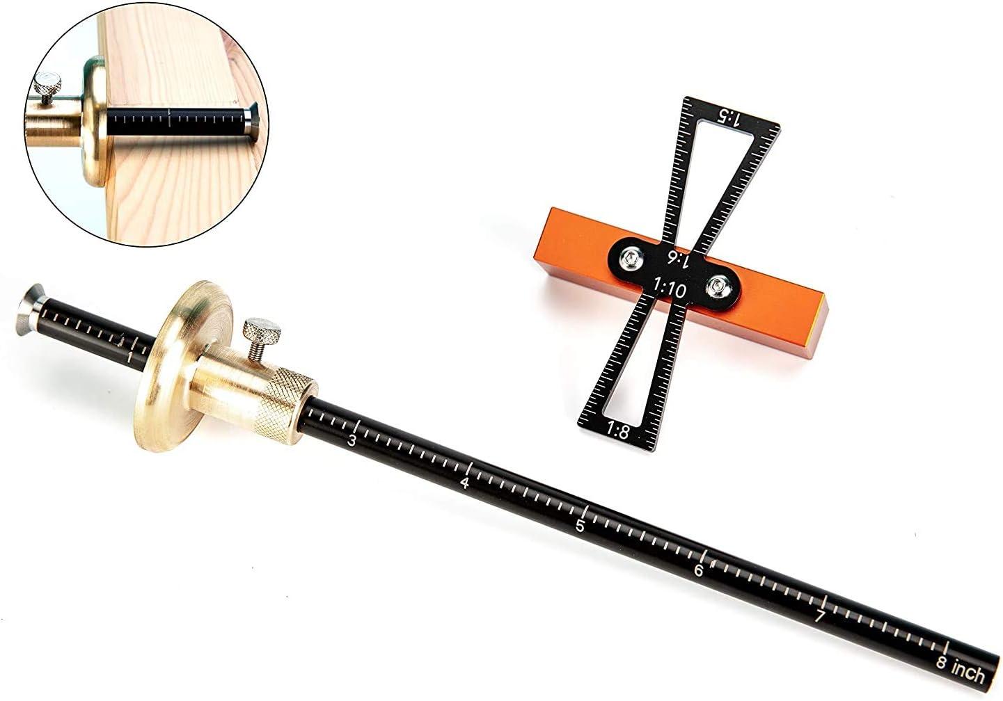 Fstop Labs Juego de herramientas de carpinter/ía de calibre de marcado calibrador de marcado de ruedas de 8 pulgadas herramienta de marcado de plantilla de marcado de cola de milano para carpinter/ía