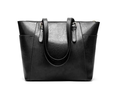 Weibliche Tasche Schultertasche Handtasche Diagonal Paket Große Kapazität Paket,Black-OneSize GKKXUE