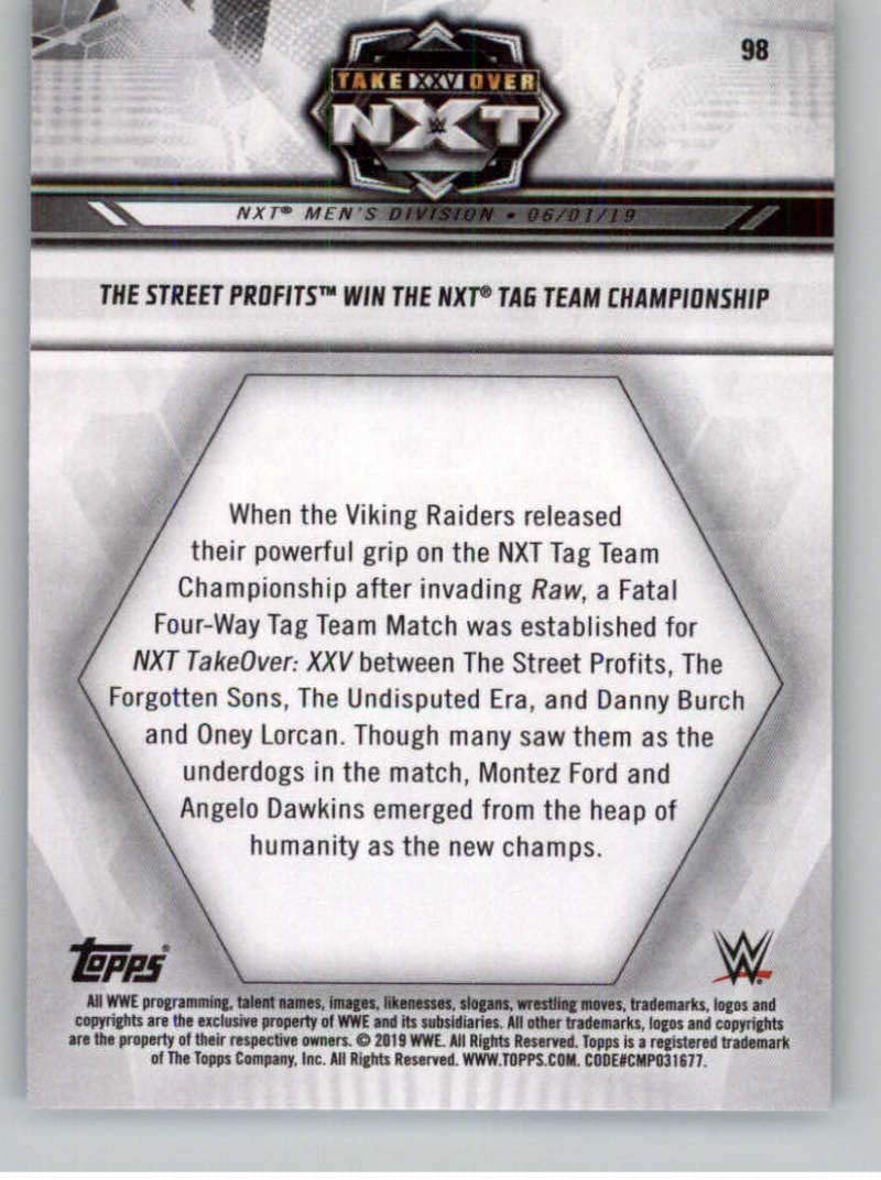 2019 Topps NXT Wrestling #98 The Street Profits Official World Wrestling Entertainment Trading Card