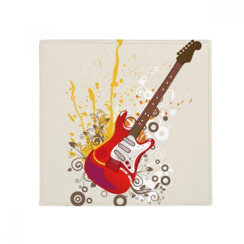 DIYthinker Electric Guitar Jazz Music Culture Anti-Slip Floor Pet Mat Square Home Kitchen Door 80Cm Gift