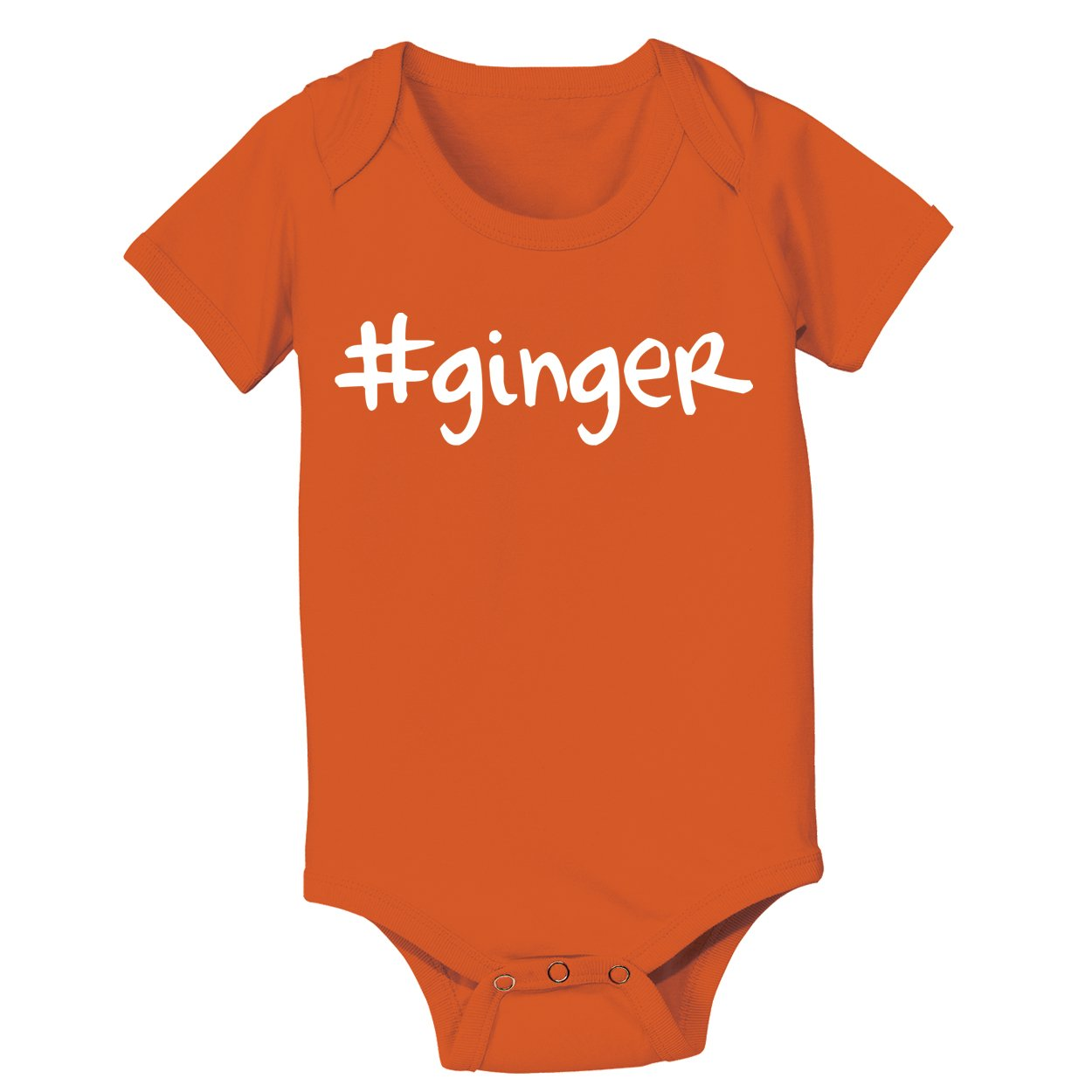 Funny Threads Outlet Hashtag Ginger Redhead Baby One Piece Newborn Orange