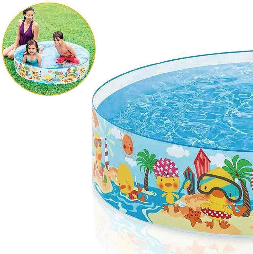 Macddy Piscina para Niños No Inflable Piscina para Niños De Plástico - Piscina Portátil De Plástico Duro para Que Los Niños Disfruten del Verano Al Aire Libre