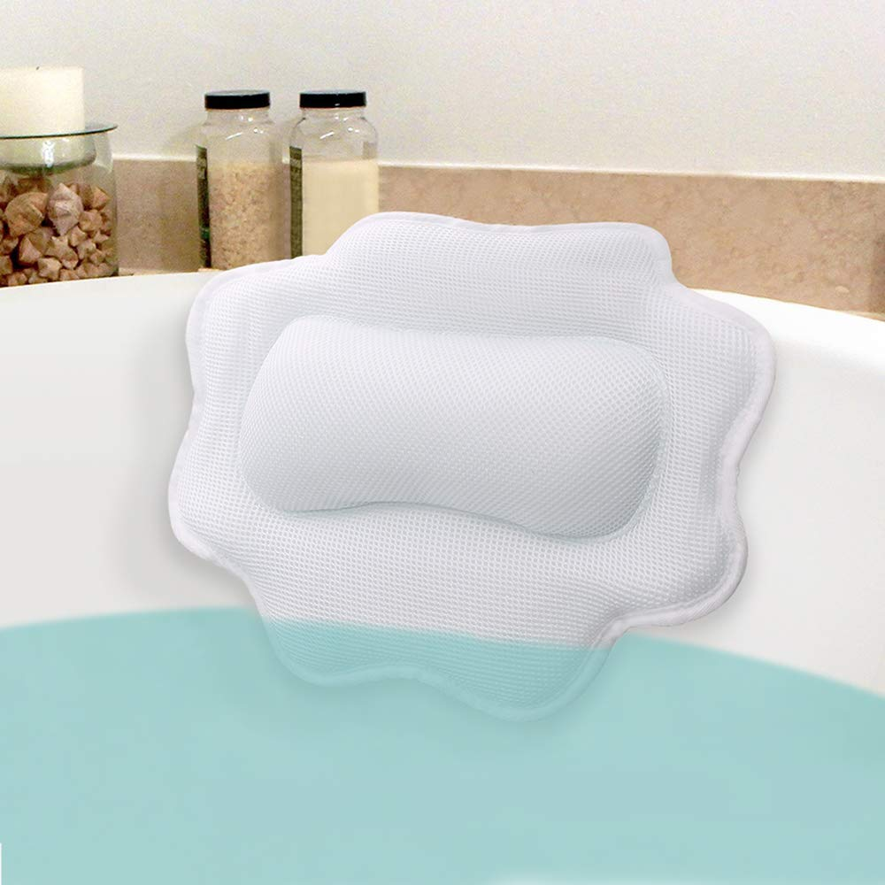 Beautypical Anti-Mold Bathtub Spa Pillow, Non-Slip 4 Strong Suction Cups, bath pillows for tub, Head, Neck, Shoulder Support, Breathable Relax Comfort by Beautypical