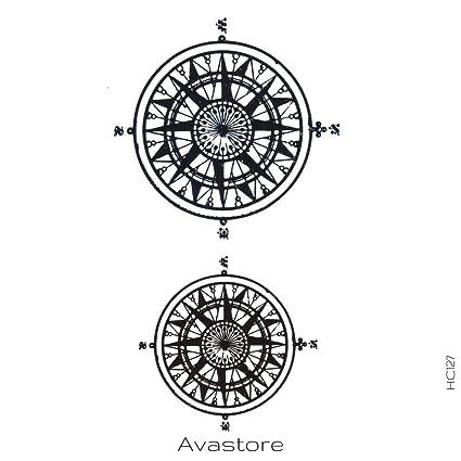 Tatuaje Temporal Brújula tatuaje efímero brújula avastore