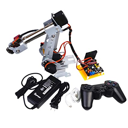Assembled 6DOF Robot Arm Mechanical Robotic Clamp Claw with Servos /& Controller