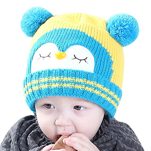 5418c4b4555 IMLECK Kids Cute Cartoon Owl Winter Hat Toddler Warm Beanie Hat - Fits 3  months old to 2 years old. D. A. B. C
