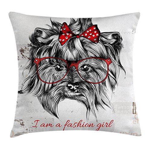 Animal Throw Pillow Cushion Cover by Lunarable,