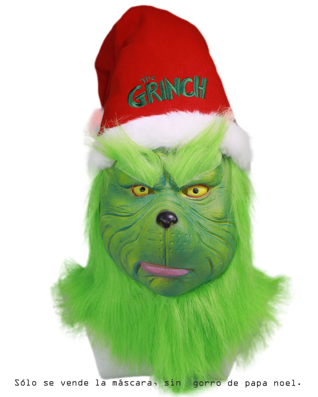 Nexthops Grinch Máscara para Carnaval Disfraz para Hombres ...