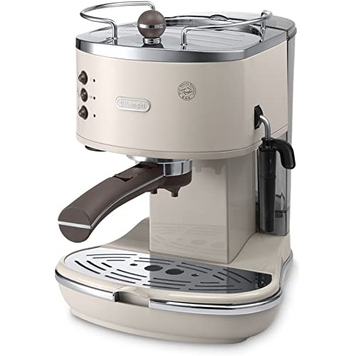 Pump Espresso and Cappuccino Machine in Cream