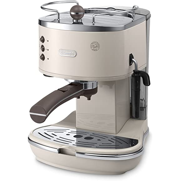 Pump Espresso and Cappuccino Machine in Cream
