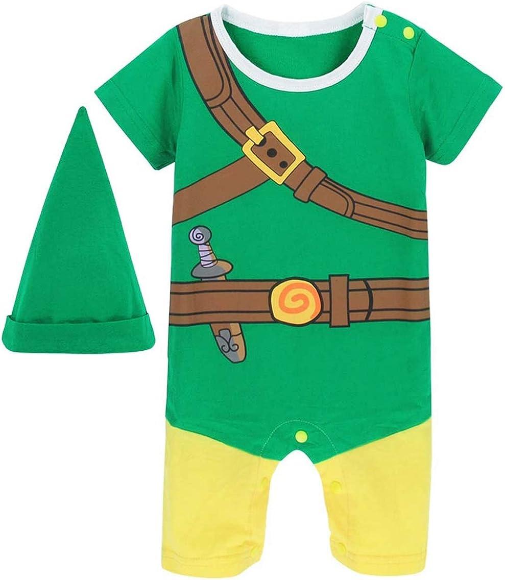 Coolbebe Baby Boys' Zelda Halloween Costume Romper