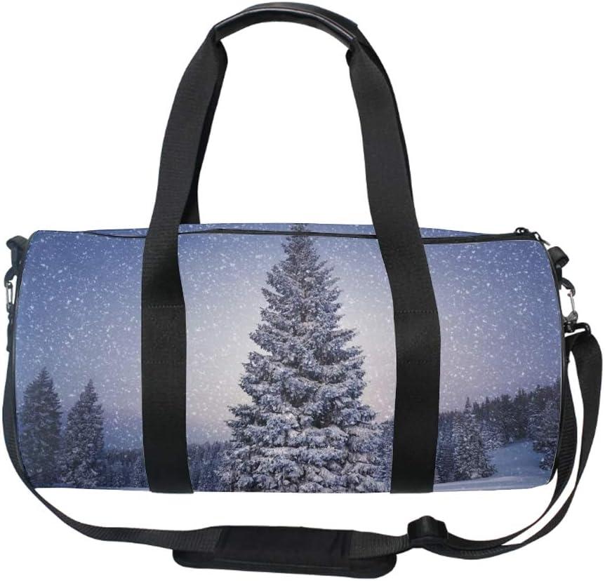 FirTrees Snowfall Sports Gym Travel Weekender Duffel Bag
