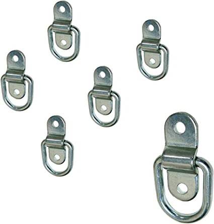1 Pack Stainless Steel D-ring Tiedowns 3,500 lb Capacity Tie Down Anchor