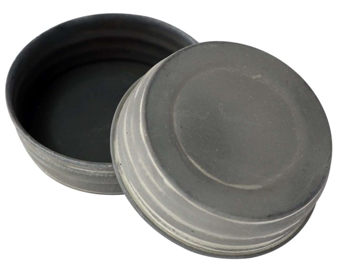 Antique Zinc Vintage Reproduction Mason Jar Lids (4 Pack, Regular Mouth)